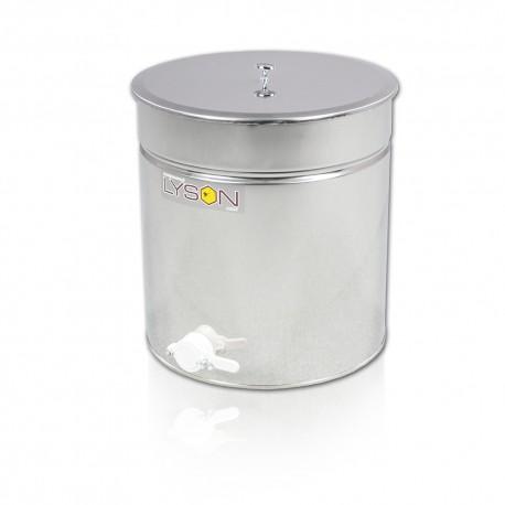 Paslanmaz Dinlendirme Kazanı, 50 L, Plastik vana 6/4 (Çap 400 mm Yükseklik: 440 cm) - OPTİMA - Karton kutu ile paketlenmiş